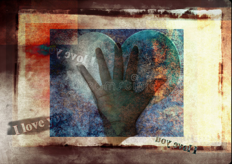 Text message of love royalty free stock photo