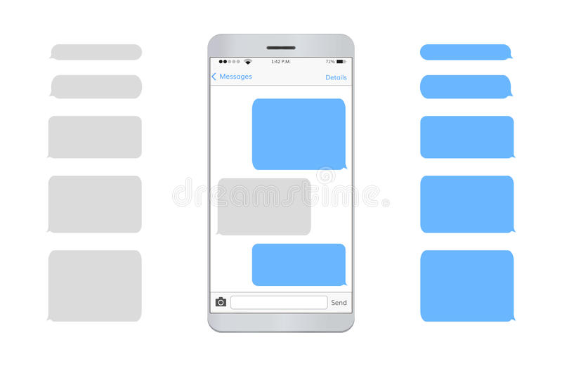 Text message mobile phone. empty royalty free illustration