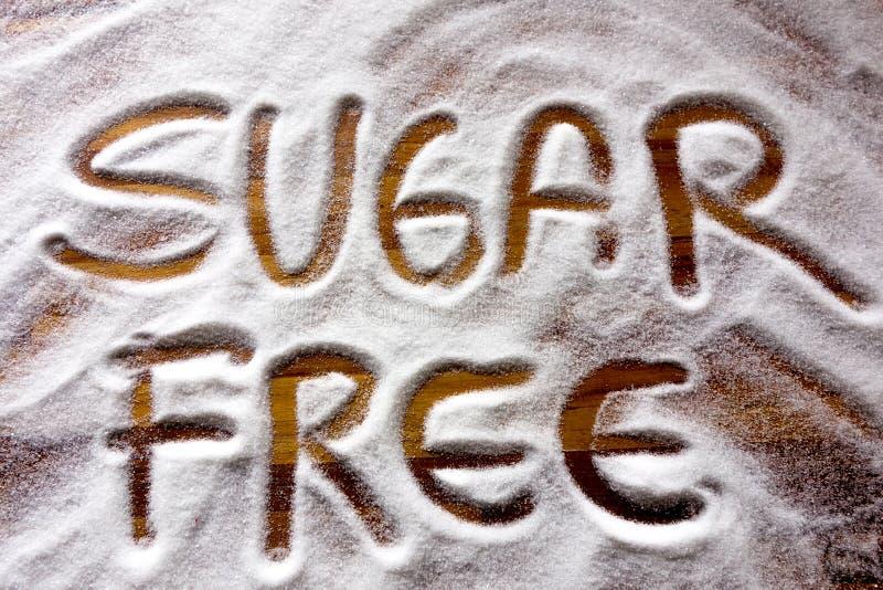 Text mit Zucker geben frei lizenzfreie stockbilder