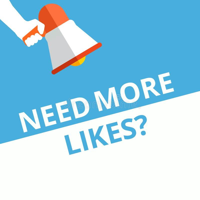 text Need More Likes question royalty free illustration