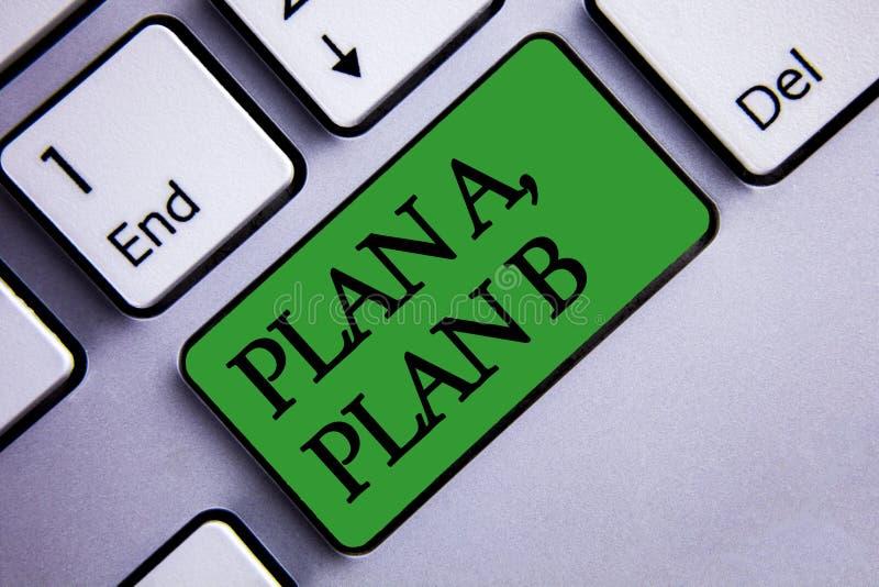 Text o sinal que mostra o plano A, plano B Os trajetos estratégicos das ideias das soluções da foto conceptual a seguir para esco fotos de stock royalty free
