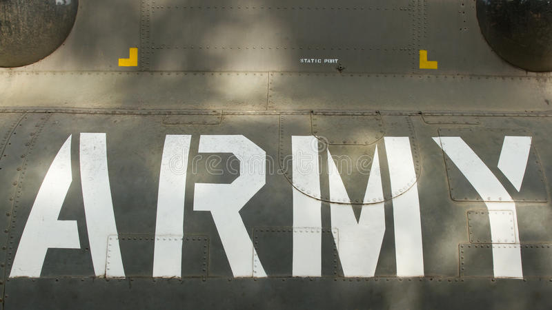 Text on an old Vietnam war Airplane displayed in Saigon. (Vietnam stock images