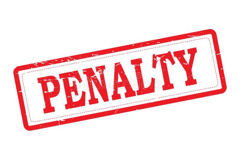 Penalty stock illustration