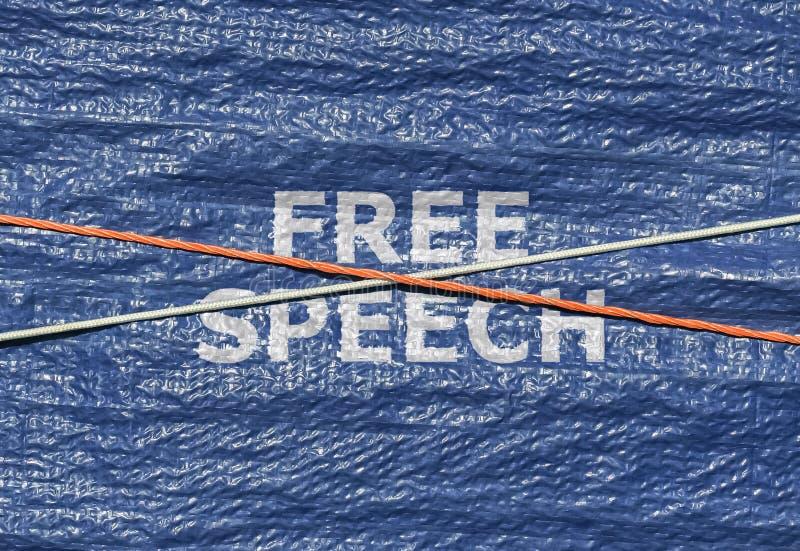 Text-Redefreiheit lizenzfreie stockbilder