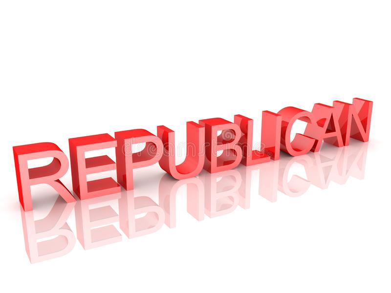 Text saying Republican. 3D Rendering isolated on white vector illustration