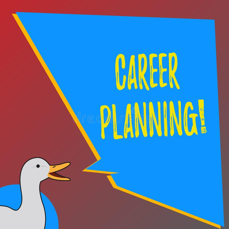 Text sign showing Career Planning. Conceptual photo Professional Development Educational Strategy Job Growth. stock illustration