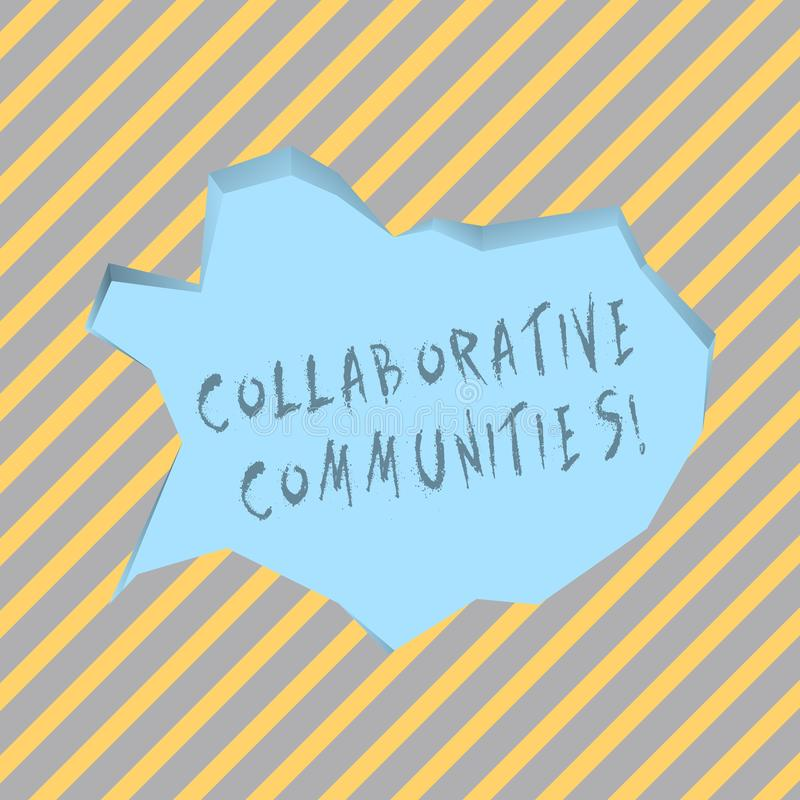 Text sign showing Collaborative Communities. Conceptual photo showing and organizations work achieve results Blank Pale. Text sign showing Collaborative vector illustration
