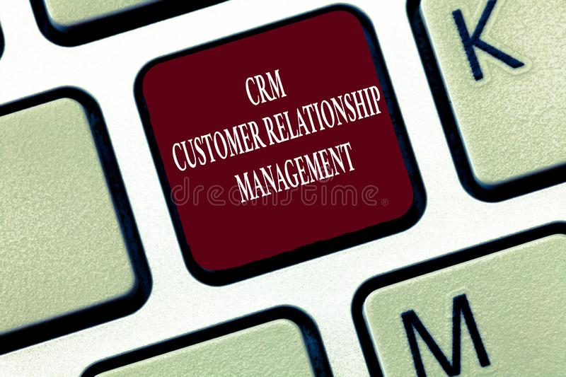 Text sign showing Crm Customer Relationship Management. Conceptual photo Manage and analyze customer interaction.  royalty free stock photo