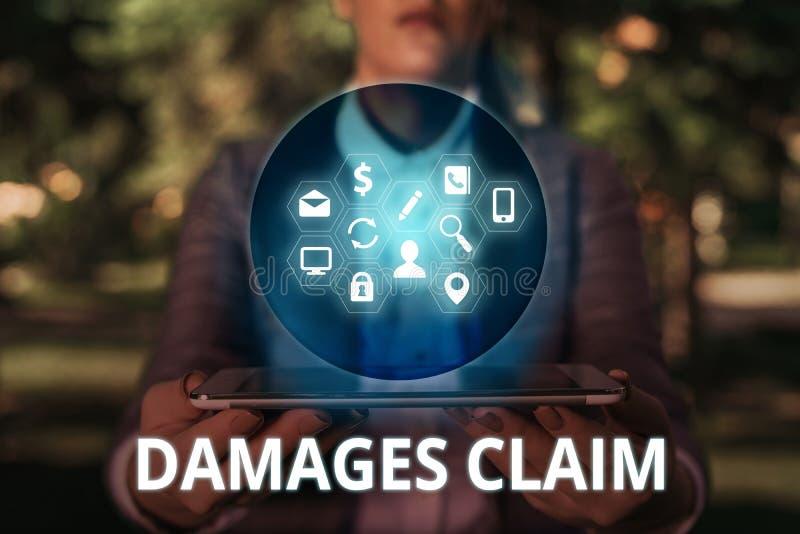 Text sign showing Damages Claim. Conceptual photo Deanalysisd Compensation Litigate Insurance File Suit. Text sign showing Damages Claim. Business photo text stock photography