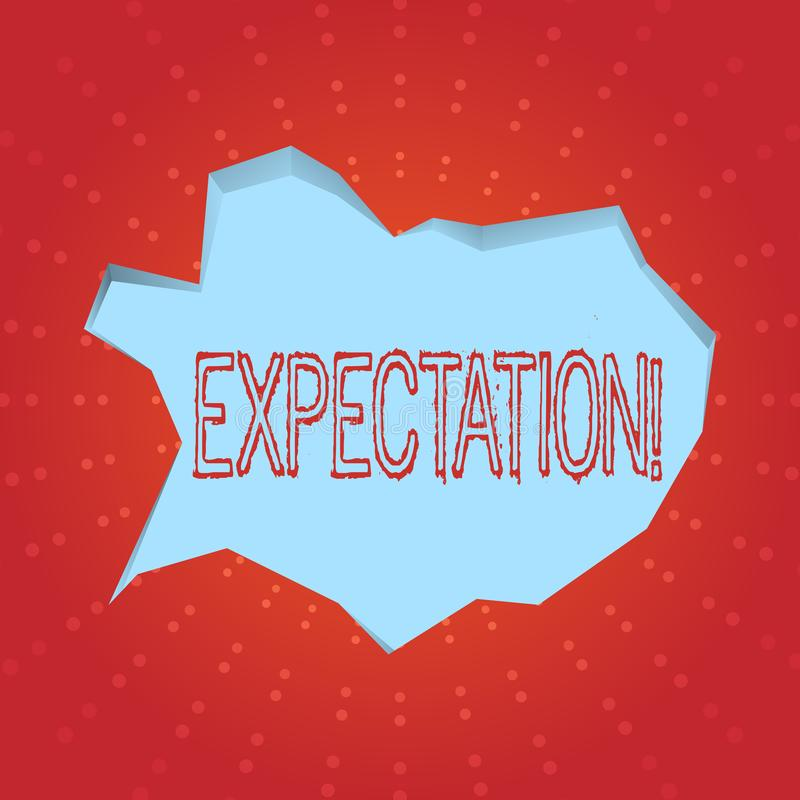 Text sign showing Expectation. Conceptual photo Meteorological research analyst predicts weather forecast. Text sign showing Expectation. Conceptual photo vector illustration