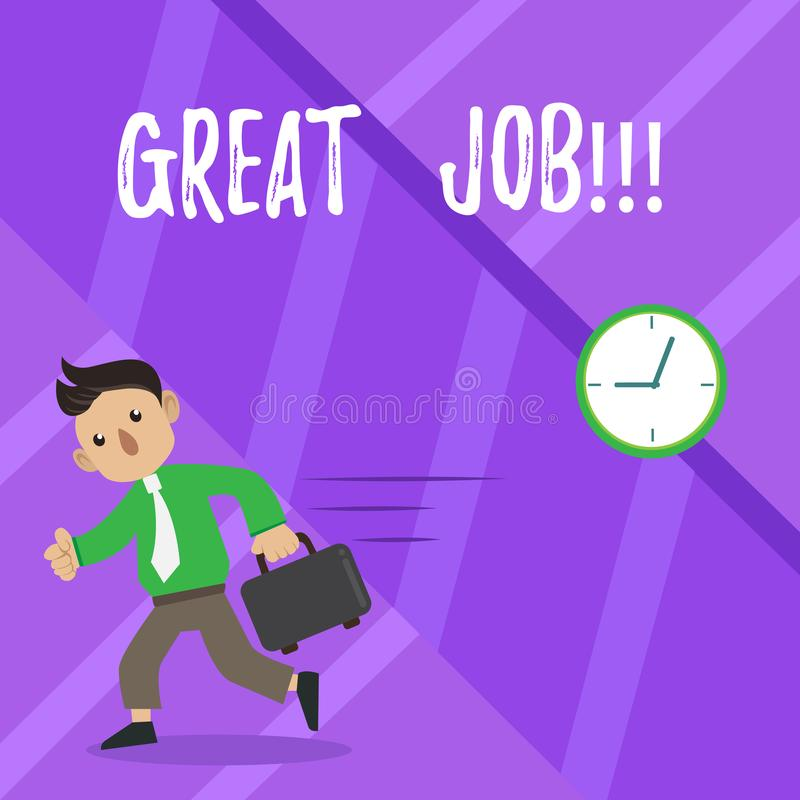 Text sign showing Great Job. Conceptual photo Excellent work Well done Good results Compliment. Text sign showing Great Job. Business photo showcasing Excellent vector illustration
