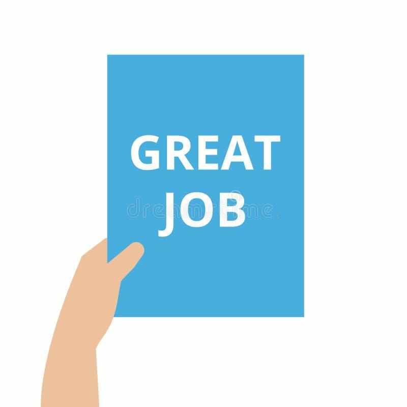 Text sign showing Great Job Motivational Call. Vector illustration stock illustration