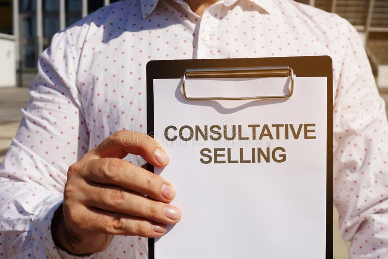 Text sign showing hand writing words Consultative Selling. Text sign shows hand writing words Consultative Selling royalty free stock images