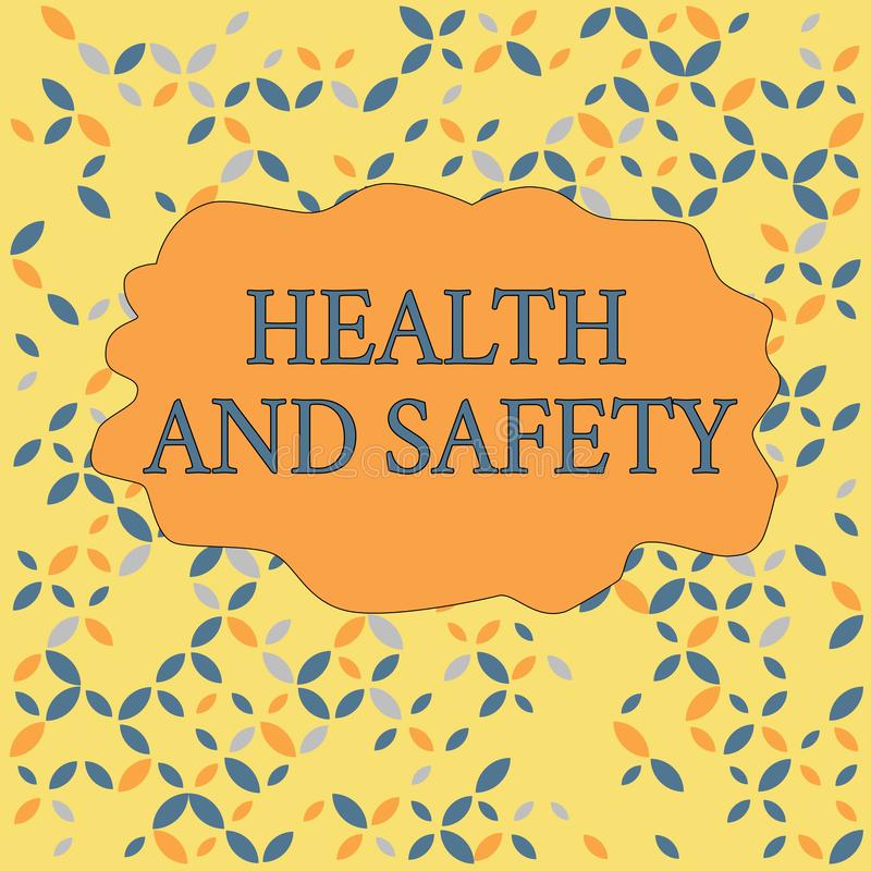 Text sign showing Health And Safety. Conceptual photo procedures intended to prevent accident in workplace Seamless. Text sign showing Health And Safety vector illustration