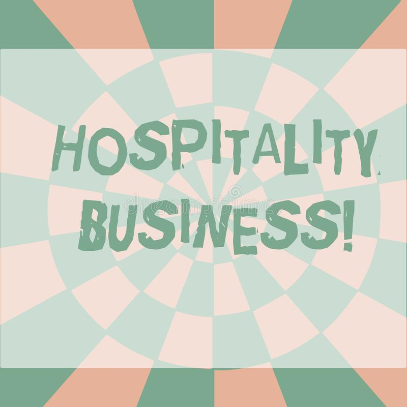 Text sign showing Hospitality Business. Conceptual photo broad category of fields within service industry Seamless. Text sign showing Hospitality Business stock illustration