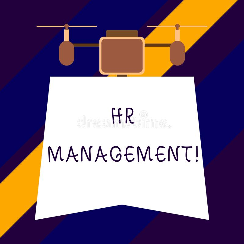 Text sign showing Hr Management. Conceptual photo strategic approach to the effective analysisagement of showing. Text sign showing Hr Management. Business vector illustration
