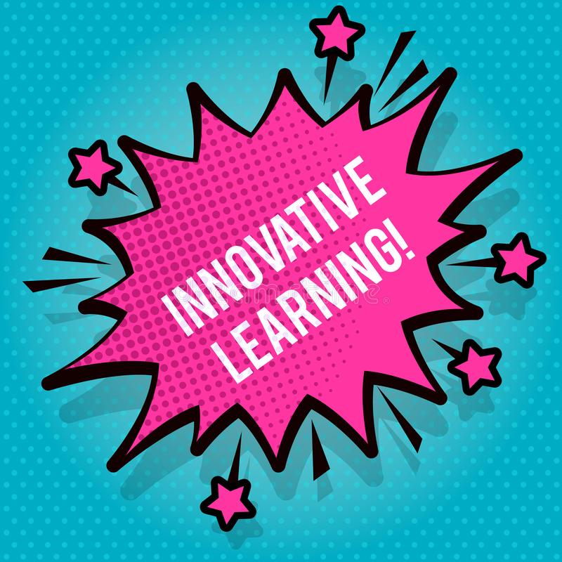 Free Text Sign Showing Innovative Learning. Conceptual Photo Interdisciplinary Teaching That Stirs Analytic Thinking Spiky Royalty Free Stock Images - 147711079