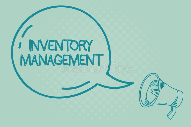 Text sign showing Inventory Management. Conceptual photo Overseeing Controlling Storage of Stocks and Prices.  vector illustration