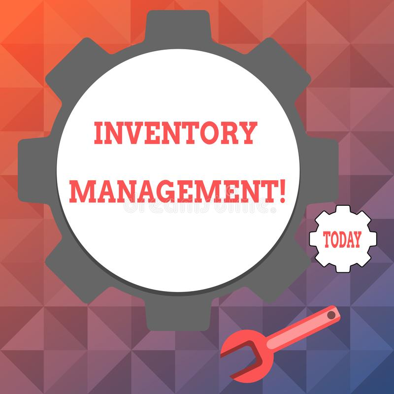 Text sign showing Inventory Management. Conceptual photo supervision of noncapitalized assets and stock items Big and. Text sign showing Inventory Management stock illustration