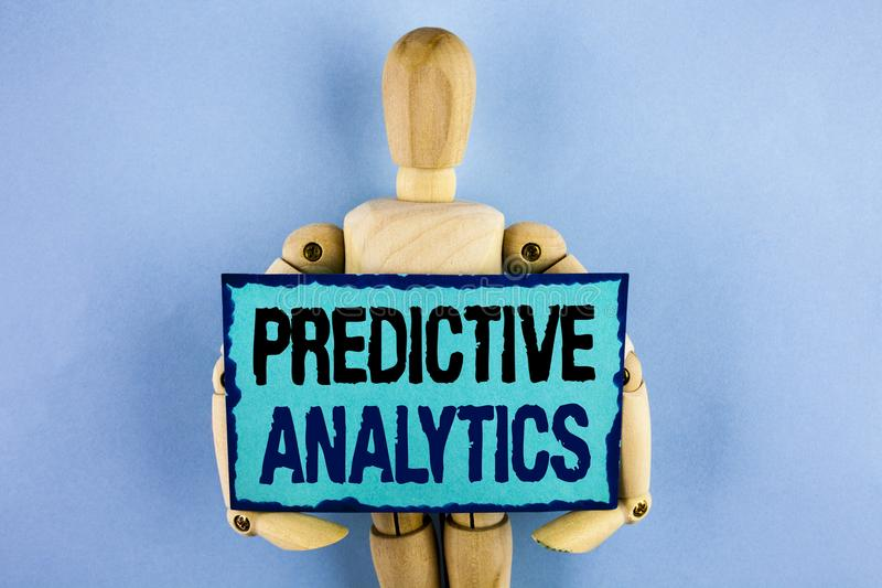Text sign showing Predictive Analytics. Conceptual photo Method to forecast Performance Statistical Analysis written on Sticky not royalty free stock photos