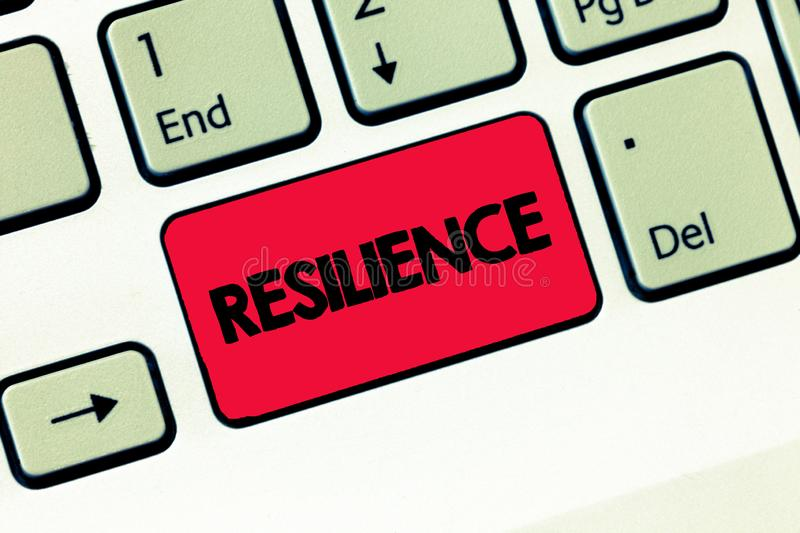 Text sign showing Resilience. Conceptual photo Capacity to recover quickly from difficulties Persistence.  royalty free stock image