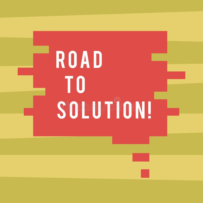 Text sign showing Road To Solution. Conceptual photo path you go to solve problem or difficult situation Blank Color stock illustration