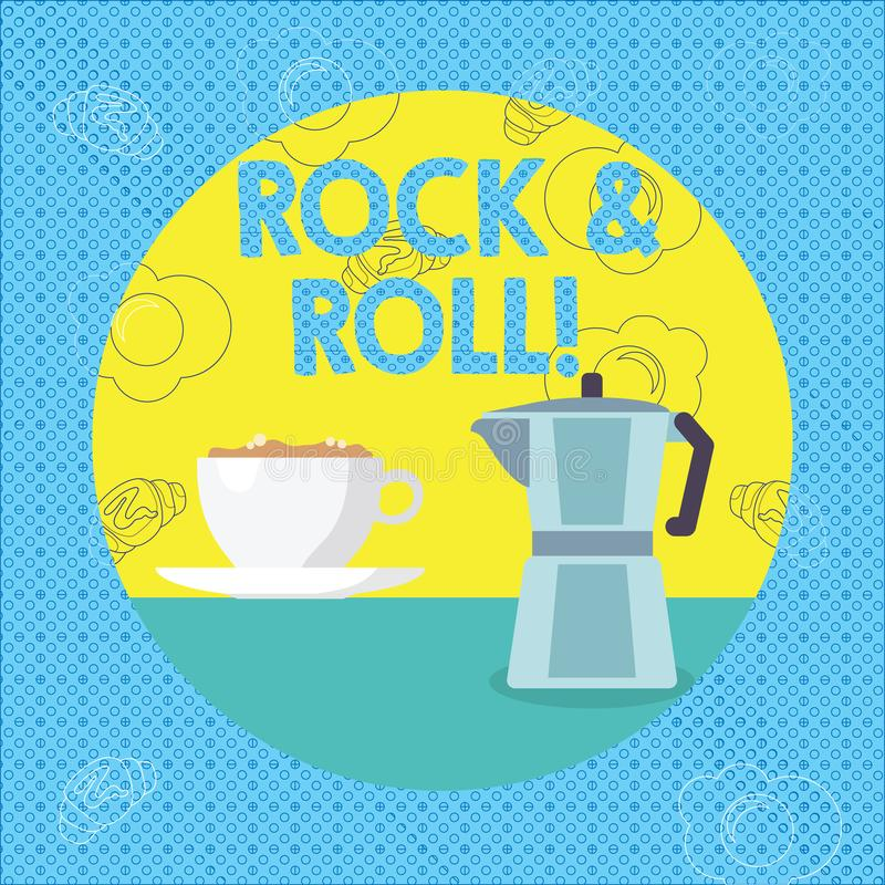 Text sign showing Rock And Roll. Conceptual photo Musical Genre Type of popular dance music Heavy Beat Sound. Text sign showing Rock And Roll. Business photo vector illustration