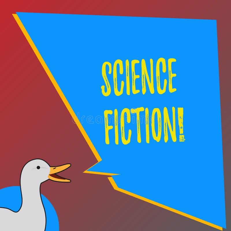 Text sign showing Science Fiction. Conceptual photo Fantasy Entertainment Genre Futuristic Fantastic Adventures. Text sign showing Science Fiction. Business vector illustration
