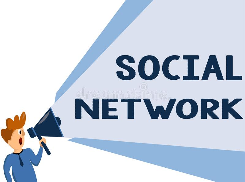Text sign showing Social Network. Conceptual photo Interactions Sharing Information Interpersonal relationship.  stock image