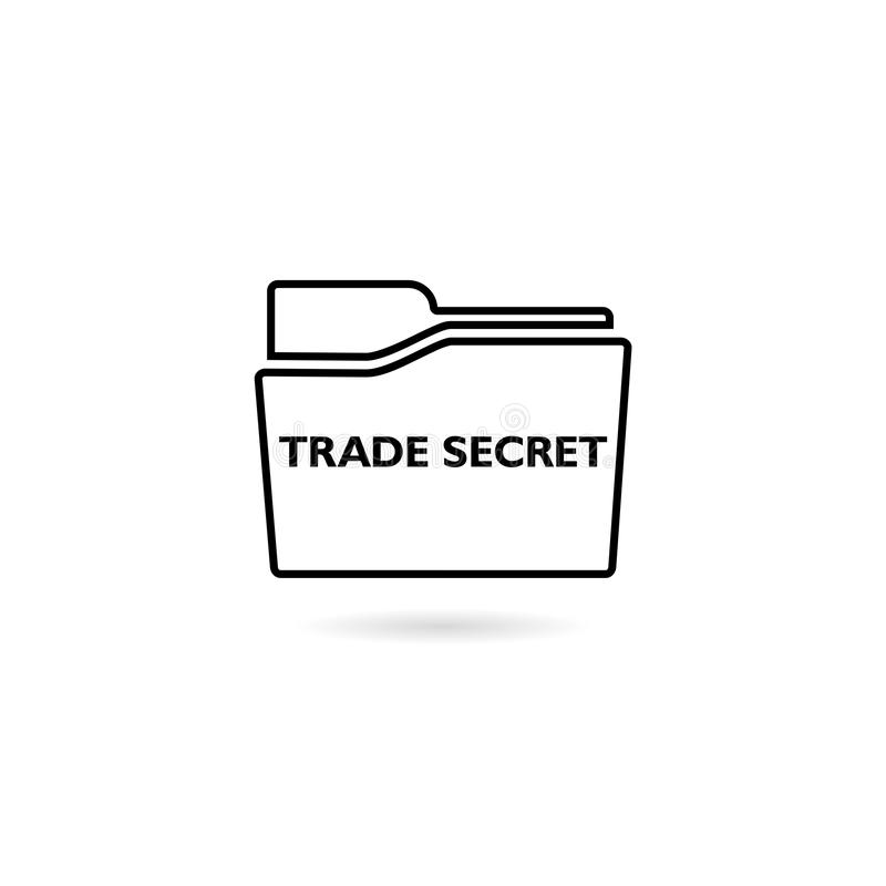 Text sign showing Trade Secrets icon isolated on white background stock illustration