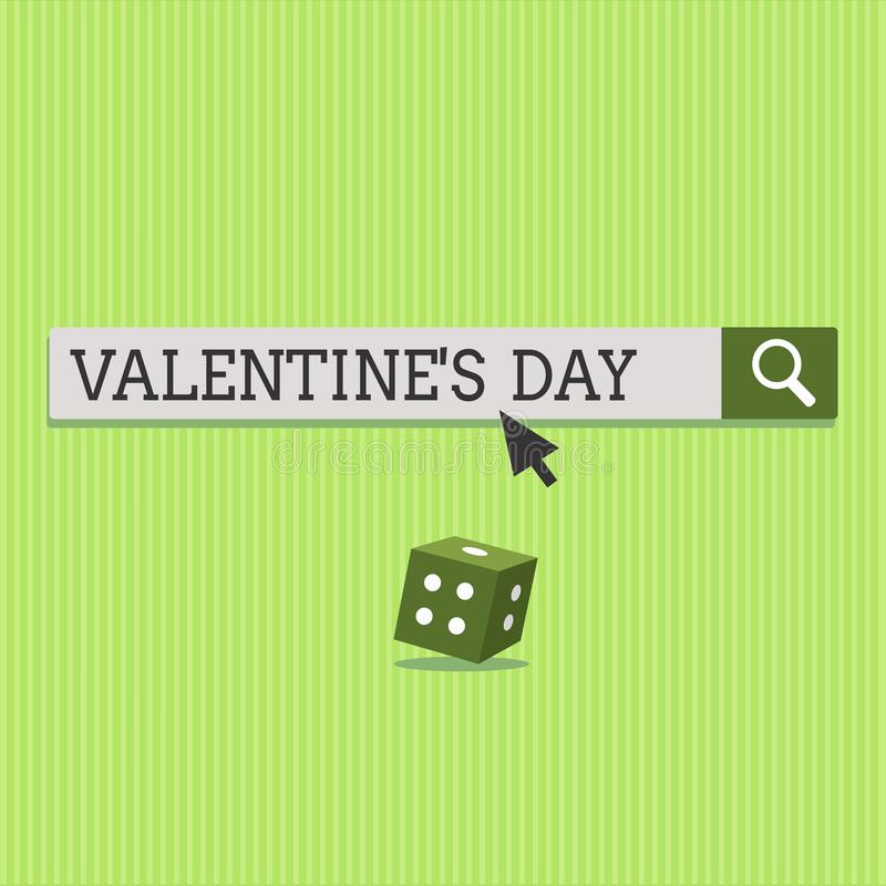 Text sign showing Valentine s is Day. Conceptual photo time when people show feelings of love and affection.  stock photos