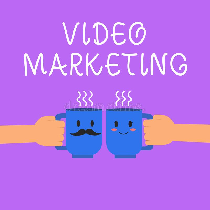 Text sign showing Video Marketing. Conceptual photo create short videos about specific topics using articles.  vector illustration