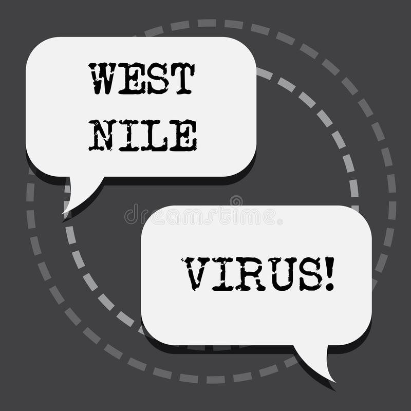 Text sign showing West Nile Virus. Conceptual photo Viral infection cause typically spread by mosquitoes. Text sign showing West Nile Virus. Conceptual photo vector illustration