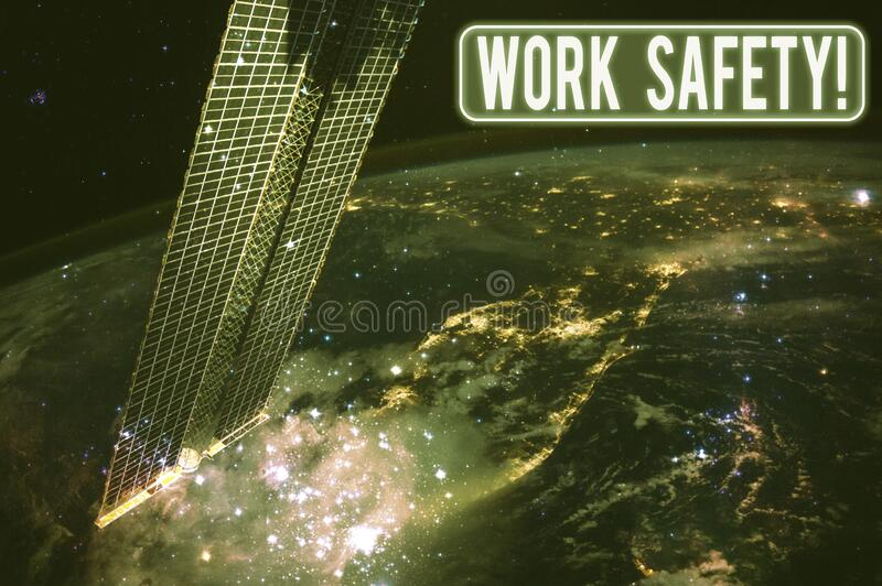 Text sign showing Work Safety. Conceptual photo policies and procedures in place to ensure health of employees Elements. Text sign showing Work Safety. Business royalty free stock photo