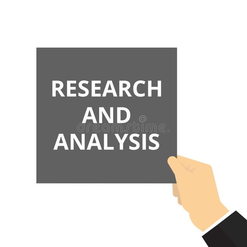 text som skriver forskning och analys vektor illustrationer