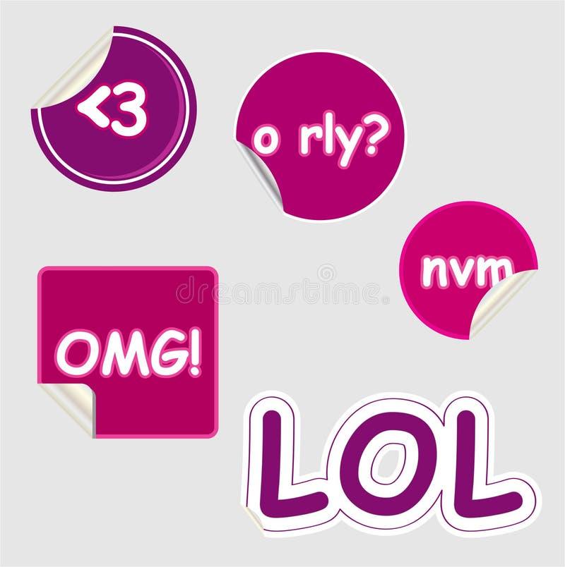 Download Text Speak Stickers stock vector. Illustration of peeling - 10303637