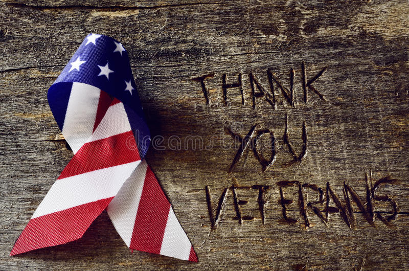 Download Text Thank You Veterans And The Flag Of The US Stock Photo - Image of event, nation: 79045786