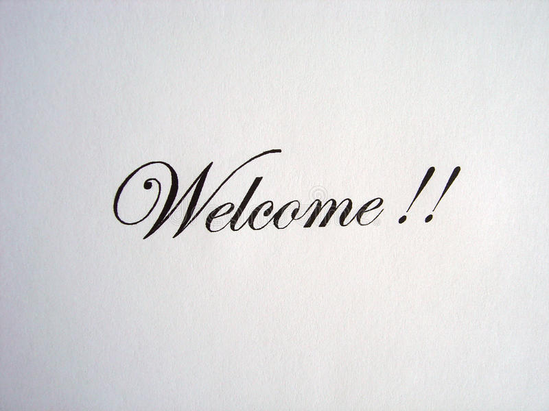 Text Welcome Written Royalty Free Stock Photos