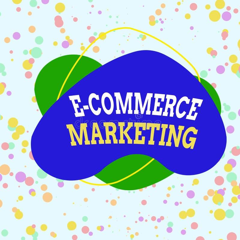 Text in Word schreiben E Commerce Marketing Geschäftskonzept für Unternehmen, die Produkte oder Dienstleistungen elektronisch ver lizenzfreie abbildung