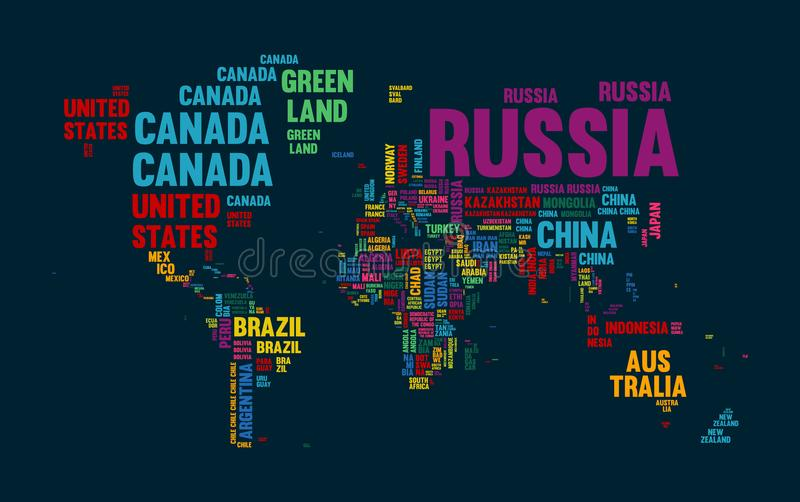 Text world map country name typography design stock vector download text world map country name typography design stock vector illustration of continents countries gumiabroncs Images