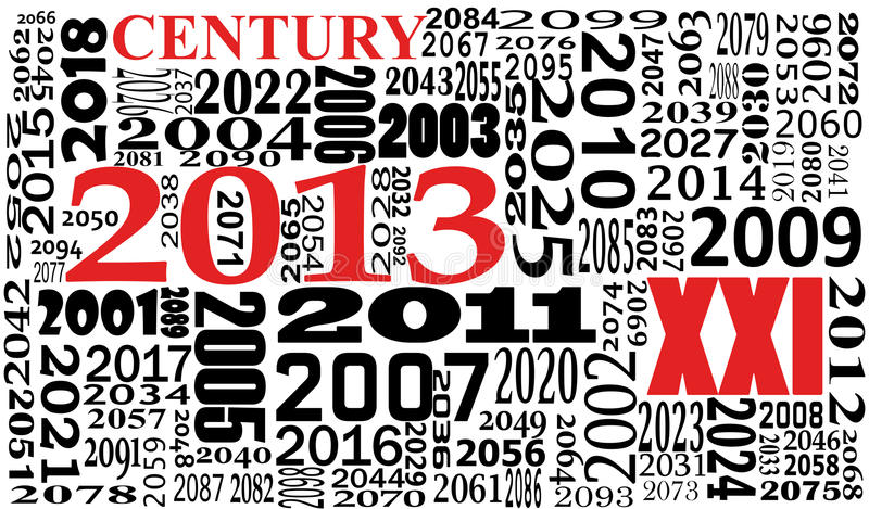 Download Text of xxi century stock vector. Image of year, 2000 - 26431936