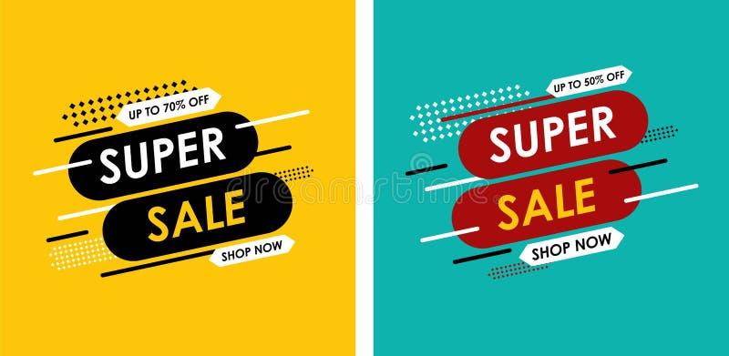 Textanimation mit Beleuchtung und andere Effekte auf einen dunkelblauen Hintergrund bis 70% weg vom Verkauf, schöner Entwurf Auch stock abbildung