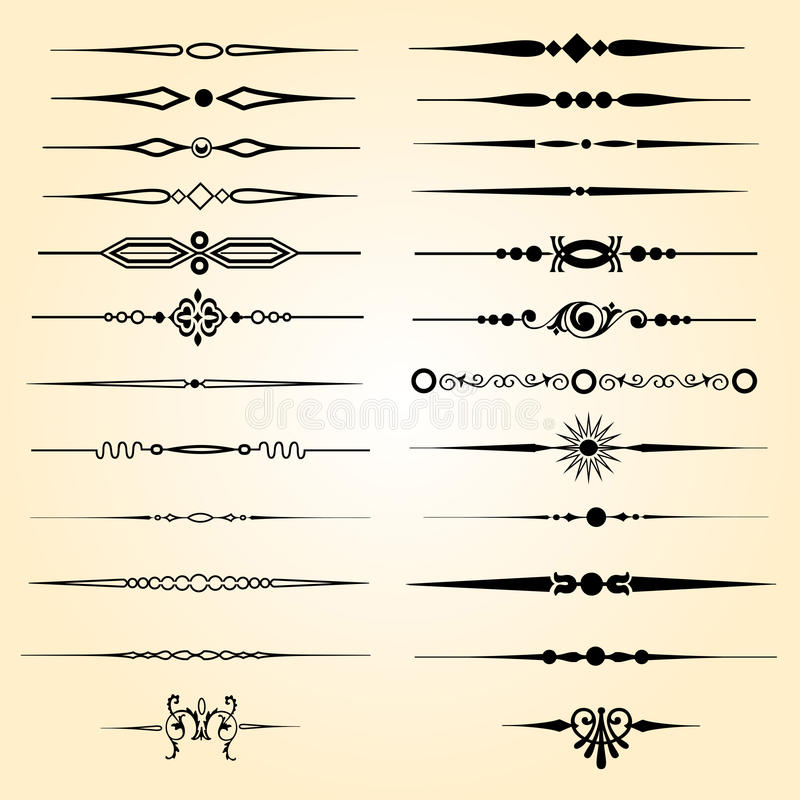 Textavdelare stock illustrationer