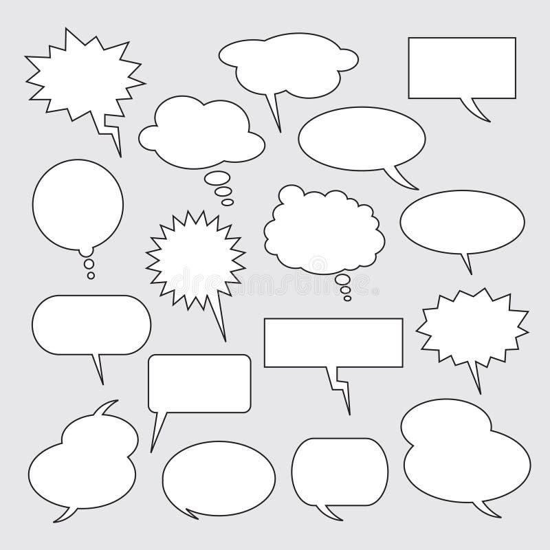 Textballone Ansammlung Spracheluftblasen lizenzfreie abbildung