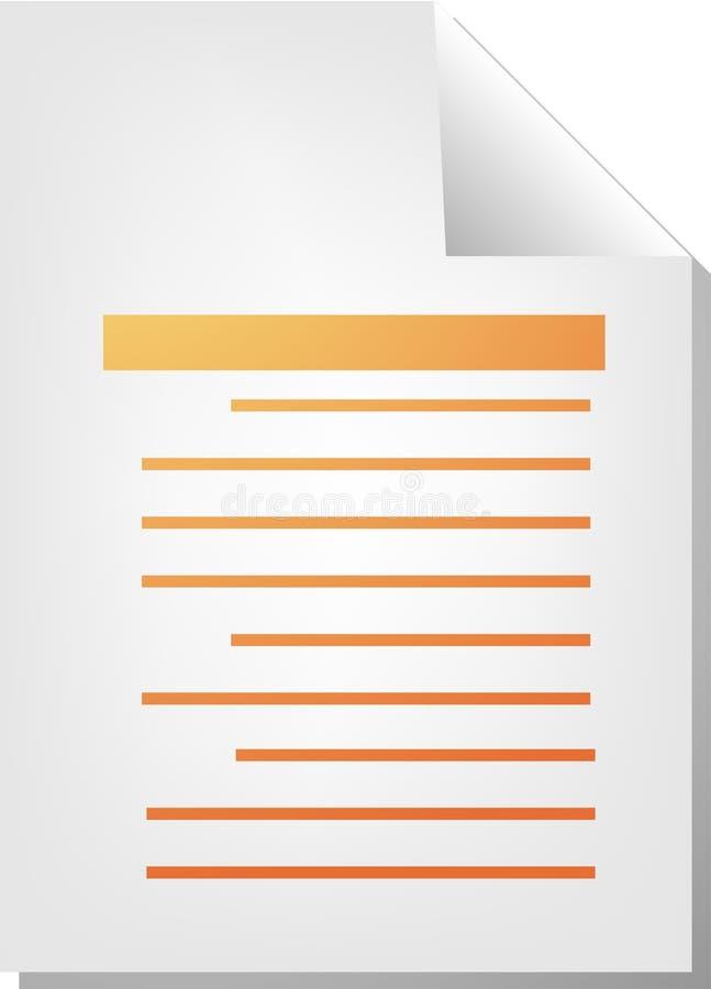 Textdokumentenikone stock abbildung