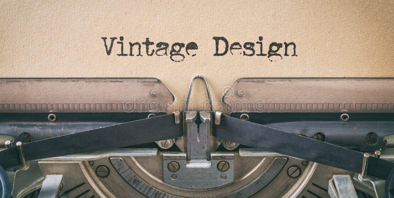 Texte écrit avec une machine à écrire vintage - Design Vintage photographie stock libre de droits
