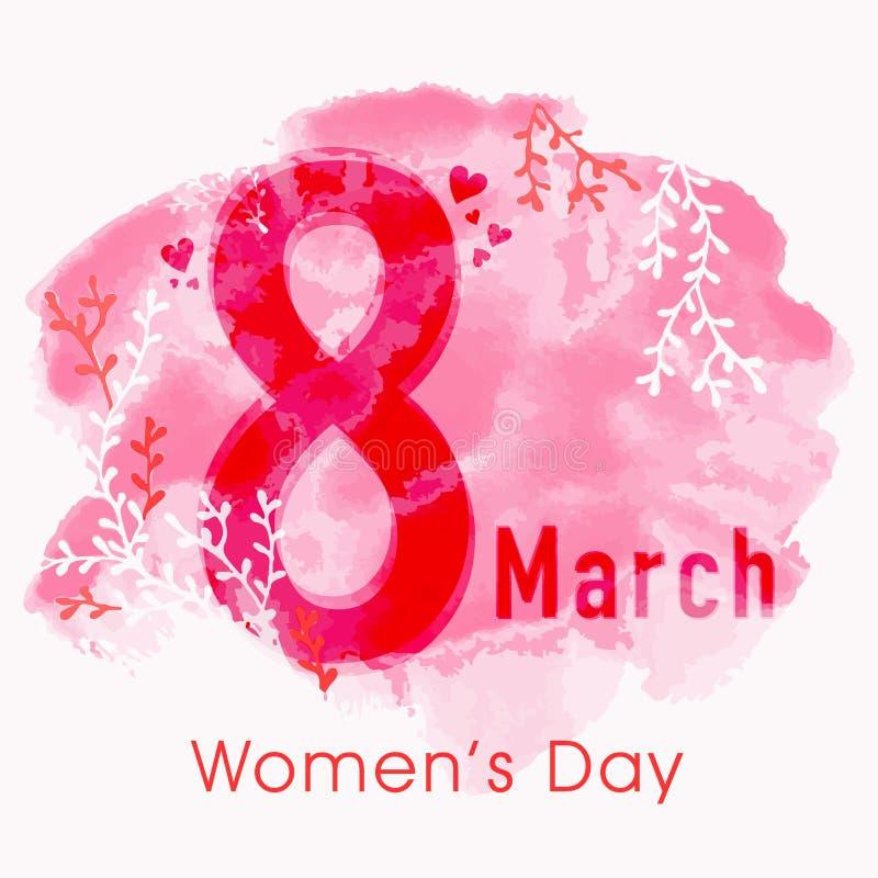 Texte élégant pour la célébration du jour des femmes illustration de vecteur
