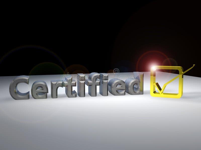Texte 3D certifié illustration de vecteur