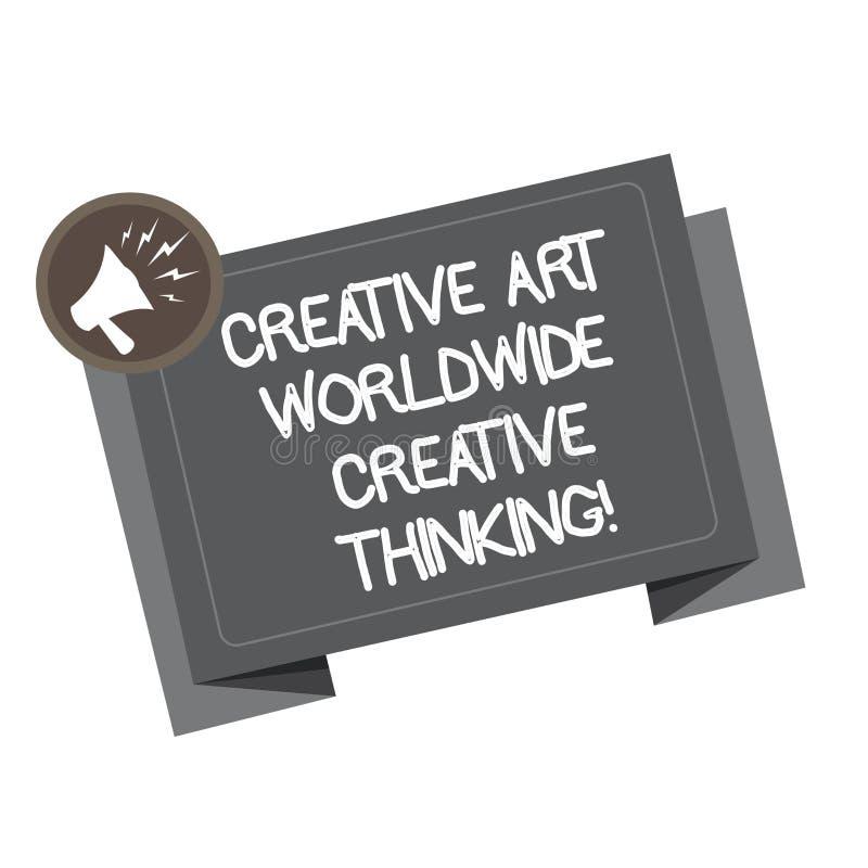Texte Art Worldwide Creative Thinking créatif d'écriture de Word Concept d'affaires pour la conception moderne globale de créativ illustration stock