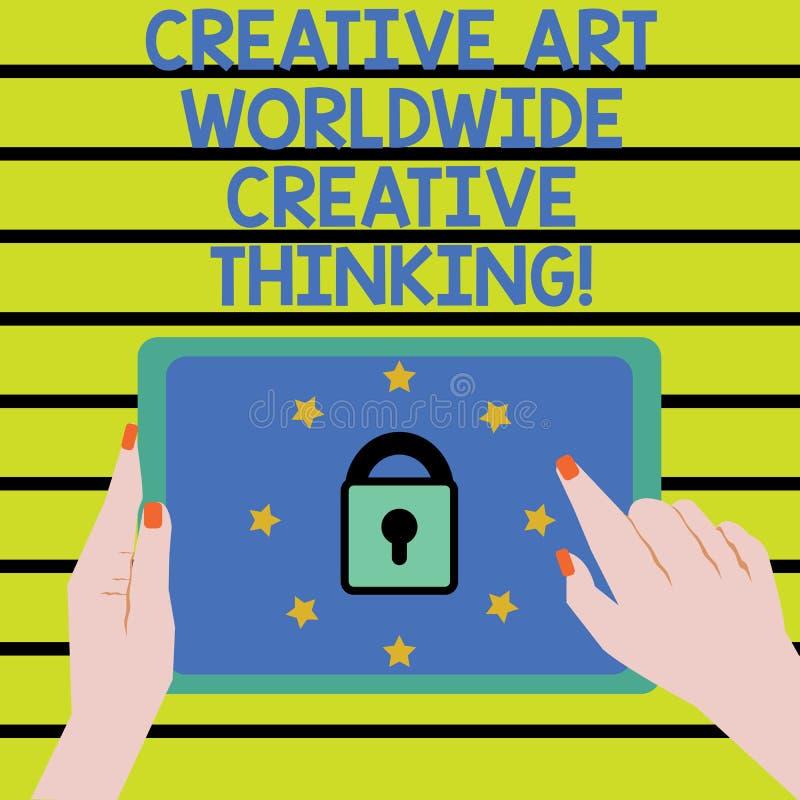 Texte Art Worldwide Creative Thinking créatif d'écriture de Word Concept d'affaires pour la femelle moderne globale de conception illustration stock